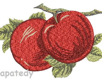 apples embroidery - Machine Embroidery Design