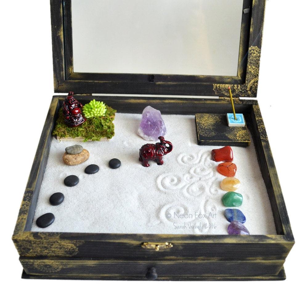 Zen Garden Meditation Box Made To Order Buddha Statue