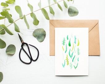 Fern Pattern Greeting Card