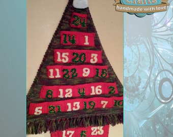 Knitted Christmas Tree Advent Calendar