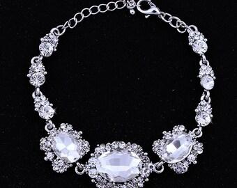 Bridal Bracelet Wedding Bracelet Silver Pearl Wedding Bracelet Bridal Jewelry Wedding Jewelry Bridal Accessories Style-666
