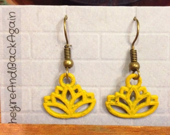 Yellow Lotus Earrings