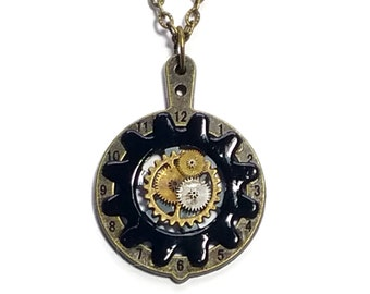 cogs and gears steampunk necklace
