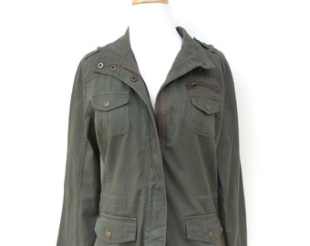 Khaki Olive Green Jacket