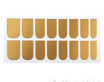 16pcs in Set Nail Art DIY Decorations Patch Foils Decal Stickers Tips Wraps Sheet golden
