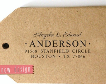 CUSTOM ADDRESS STAMP from usa, custom pre inked address stamp with proof, custom address stamp, return address stamp, Wedding Stamp rc6-8