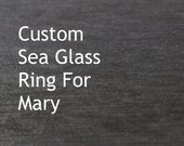 Custom Sea Glass Ring For Mary, Gray English Sea Glass, Size 9.0 Ring, Sterling And Fine Silver, Handmade Sea Glass Ring By MarkWhiteDesigns