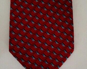 Vintage Red Ermenegildo Zegna Necktie