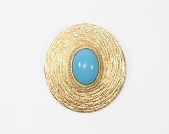 Framed Robins Egg Blue Pin Pendant