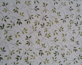 Green Floral Fabric By The Yard