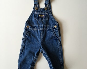 Vintage Osh Kosh b'Gosh Blue Denim Overall Pants for Baby Boy