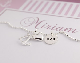 NAME NECKLACE with engraving, friendship chain initials