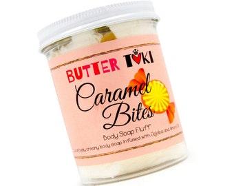 SAMPLE 1oz Caramel Bites Whipped Body Soap Fluff - Caramel Soap - Whipped Soap - Cream Soap