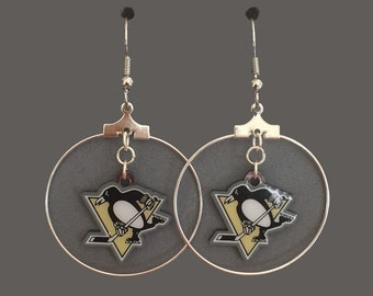 Penguins hoop earrings