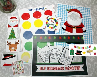 INSTANT Download Christmas Elf Shelf Activity Bundle Pack Printable Download - Fun Family Party diy printables prop