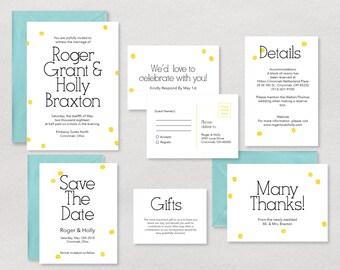 Wedding Invitation, Wedding Invites, RSVP Postcard, Wedding Invitation Printable, Wedding Invitation Set, Wedding Invitation Suite