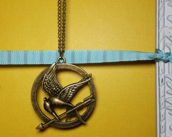 HG Inspired Necklace, Girl on Fire, May the Odds be in your favor