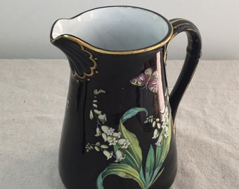 BLOWOUT SALE Jackfield Pottery Water Pitcher