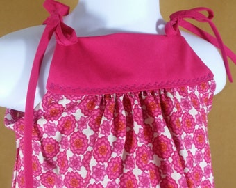 12 - 18 mos Floral strap tie top or dress with pockets