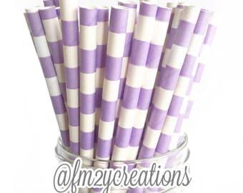 PAPER STRAWS, Lavender Purple Paper Straws, Circle Purple Straws, Cake Pops,Purple Weddings, Birthday Party, Purple baby shower, Party,