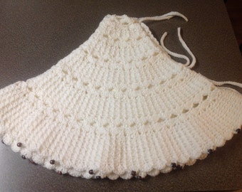 ivory christmas tree skirt large handmade crochet tree skirt - Large Christmas Tree Skirts
