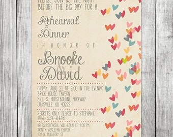 Wedding Rehearsal and Dinner Invitation - 5x7 JPG