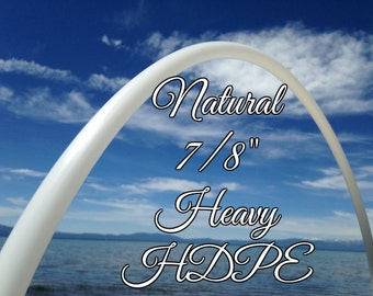 "7/8"" HDPE Medium Practice Hula Hoop - Colapsible Travel Hoop - You Pick the size"