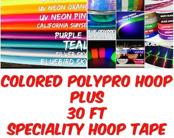Colored PolyPro Hula Hoop PLUS 30 ft of Hoop Tape - Only 22.95