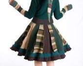 Sweater coat,Size S/M,Katwise coat,green coat,hand made coat,hooded coat,reconstructed coat,wool coat,cashmere coat,dream coat,hoodies