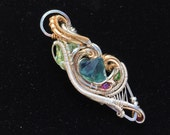 """Wire wrapped pendant - """"Outset"""""""