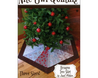 "Pattern ""Hexagon Tree Skirt"" by Nite Owl Quilting (1513HTS) Paper Pattern"