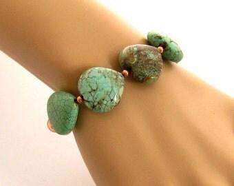 Teal Stone Bracelet, Turquoise Bracelet, Turquoise Jewelry, Teal Bracelet, Stone Bracelet, Jewelry Gift for Her
