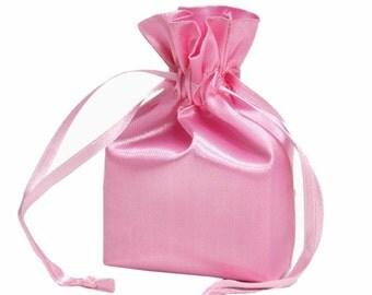 Large Baby Pink Satin Gift Bag