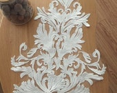 wedding bridal lace applique, bridal veil applique, venice lace applique in ivory