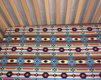 Aztec Fitted Baby/Toddler Crib Sheet