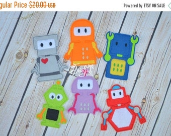 SALE Robot finger puppets
