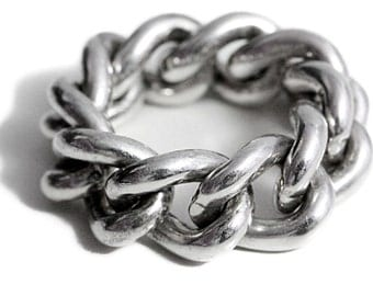 Chain Ring 925 Sterling Silver