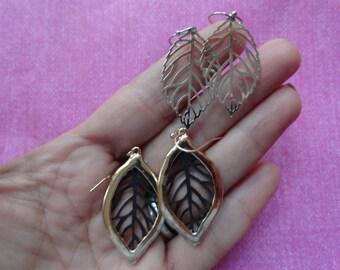 Open leaf filigree  earrings