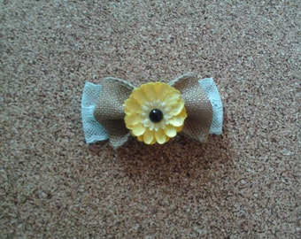 Cute Yellow Flower Hair Bow