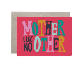 Mum Card – Mother Like No Other. Mothers Day Card. Mum Card. Fun Mum Card. Mom. Funny Mum Card. Funny Mothers Day Card. Rhyme