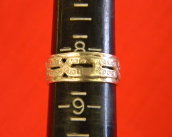 Sterling Silver 925 Delightful Decorative Band Style Ring Size 8.5 ET 6139