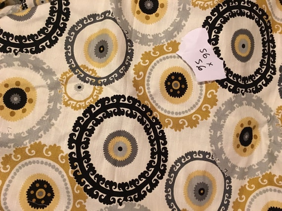 Home Decor Fabric. Yellow Black And White By SewLovelybyKelly