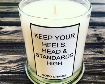 COCO CHANEL quote - Handcrafted Soy Candle