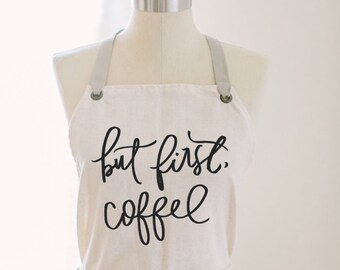 Apron, Coffee First, present, housewarming gift, kitchen decor