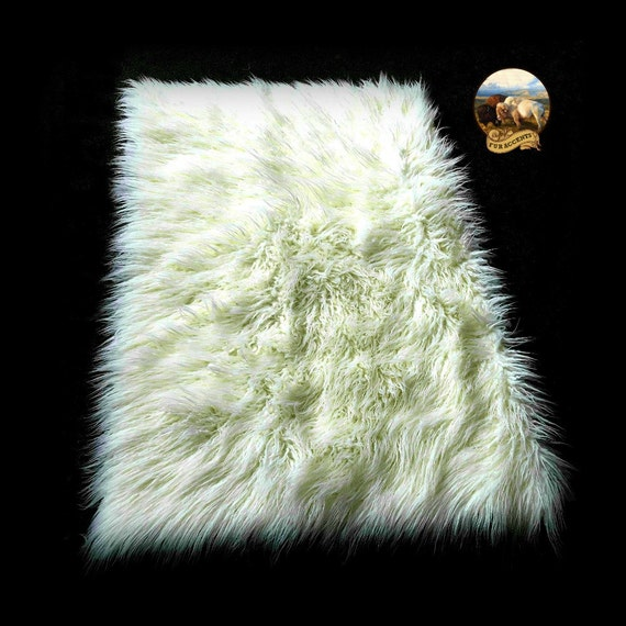Sale Soft Faux Fur Area Rug Ivory Off White By FurAccents