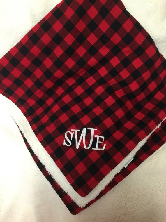 Buffalo Plaid Blanket Throw Buffalo Plaid Baby Blanket By