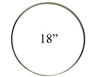 """18"""" Macrame Metal Ring Hoop Brass, Dream Catcher, Macrame Hoop, Craft Hoop Ring"""