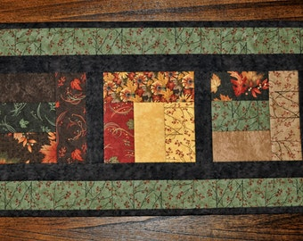 """Walk in the Woods, Table Runner/Tabletop Quilt, 31 X 15"""""""