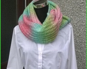 15% off free shiping to UK,hand made snood scarf.Long snood,decorative infinity scarf-snood.Made in Shetland.