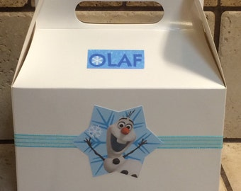 Olaf favor boxes